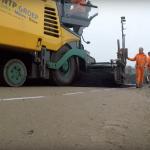 Dronevideo tijdelijk asfalt